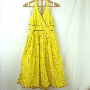 Anthro Moulinette Soeurs Lemon Print Meyer Dress 8